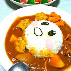 フード/星のカービィ/カレーライス/おうちご飯 カービィカレーライスにしました🍛