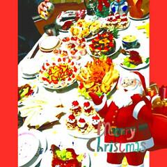 パーティー/料理/クリスマスパーティー/おうち/フード/クリスマス クリスマスパーティー✨✨娘と楽しく料理し…