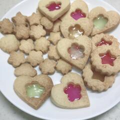 クッキング/お菓子作り/料理/ステンドグラスクッキー/クッキー/手作り/... ステンドグラスクッキーに初挑戦!  色合…
