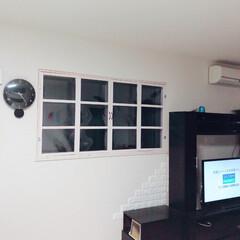 窓枠/DIY/100均/セリア 旦那が手作りの窓枠を使ってくれました! …(1枚目)