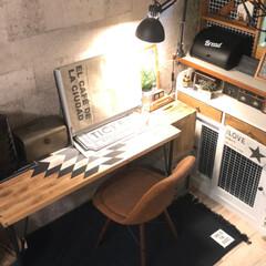 オルテガ/ブラケットランプ/コンクリート壁紙/DIY女子/イームズチェア/salut!/... ずっと変えたかったパソコンデスク。 素敵…(3枚目)