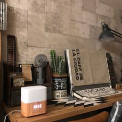 イームズチェア/男前インテリア/ケーブルドラム/コンクリート壁紙/IKEA/アロマデュヒューザー アロマデュヒューザー買いました💓  アラ…