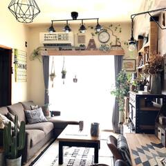 DIY女子/壁ペイント/RAUTA/ハウスリノベーション/ディアウォール/カーテンボックスDIY/... リビングのメイン照明を買い換えました💜 …