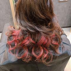 兵庫県西宮市/Hair Tailor/ヘアサロン/赤/インナーカラー/ヘアカラー/... 久しぶりにインナーカラーに 色を入れまし…