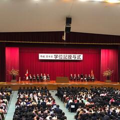 卒業式/学位記授与式/長男 長男の卒業式でした。 大学は卒業式でなく…