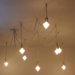 オリジナルペンダント照明 店舗改修工事にて。かわいいでしょ!オリジ…
