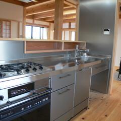 ステンレスキッチン/製作家具/料理 ハードに使えるステンレスキッチン。カウン…