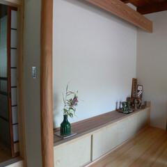 古民家/リフォーム/玄関/ホール/床の間/木の家/... 古民家リフォーム。玄関の床の間。