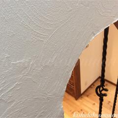 塗り壁/自然素材/輸入住宅/注文住宅/宇治市/京都府 真っ白な自然素材の塗り壁 ☘🎵