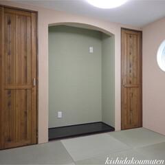 和室/和モダン/自然素材/注文住宅/宇治市/京都府 スキップフロアの畳スペース
