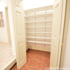 シューズクローク/大容量収納/プロヴァンスハウス/長期優良住宅/自然素材の家/京都注文住宅 大容量のシューズクローク ✨🎵