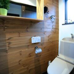 パイン材/塗り壁/自然素材の家/トイレ/工務店/注文住宅/... 無垢のパイン材と塗り壁のトイレ。 トイレ…