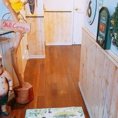 マット/トトロ/住まい 頂いたトトロのマット玄関に敷かしてもらい…