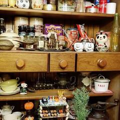 食器棚/小物収納/雑貨/住まい 食器棚けど、いつしか雑貨棚に😅🏡