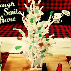 シーグラス/サンゴ/クリスマスツリーハンドメイド/インテリア こないだの続き サンゴのクリスマスツリー…