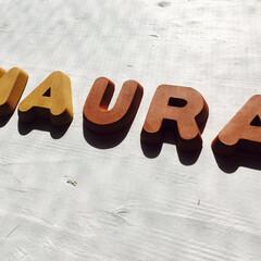アルファベットタイル/表札/テラコッタ/タイル/かわいい/白漆喰 土をアルファベットの形に彫って乾燥させて…