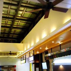 換気/駅/天井扇/シーリングファン 例えば駅のコンコースに滞留する熱気の排出…