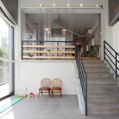 エントランス/美容院/土間 美容院の入り口を住居のエントランスへ改修…