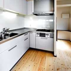 モダンジャパニーズ/横浜 使いやすいL型キッチン