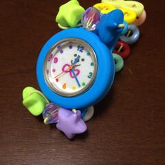 手作り時計/子どもの手作り/子ども/雑貨/ハンドメイド 娘が手芸屋さんのワークショップで作ってき…