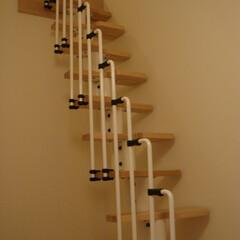 ロフト階段/ロフト/梯子/螺旋階段 <after>ロフト梯子から階段へ掛け替…