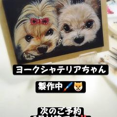 こっこのお店/犬似顔絵/うちの子似顔絵/minne/ラクマ/メルカリ/... ヨークシャちゃんだよ😁  今回は、プレゼ…(3枚目)