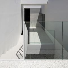 石/ガラス/コンクリート/モダン/スタイリッシュ/ミニマル/... 周囲から見られることのない、プライベート…