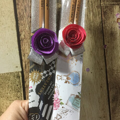 ラッピング/箸/ウッドバーニング/100均/セリア/ダイソー/... プレゼント用に、半田ごてを使ってお箸に名…