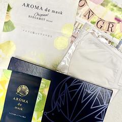 アロマdeマスク | AROMA de mask(アロマグッズ)を使ったクチコミ「早速使ってみました😊🎶 一日中いい香りが…」