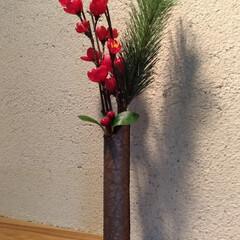 お正月飾り/お正月/飾り/自然素材/和紙/100均/... ラップの芯に自然素材の越前和紙を巻き付け…