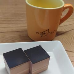 ハンドメイド/無垢/杉/自然素材/マグネット/カード/... マグネット付カードスタンド作成途中です。…(1枚目)