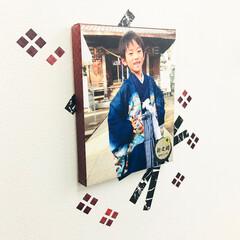 写真/子供/七五三/記念日/ギフト/キャンバスパネル/... 七五三、内祝い用キャンバスパネル…! 格…(1枚目)