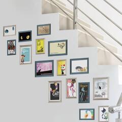 猫/インテリア/壁紙/DIY/ウォールアート/シール壁紙/... 猫の爪あと隠しに簡単DIY🐱 水でペタペ…(1枚目)