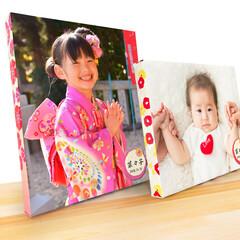 写真/子供/七五三/記念日/ギフト/ファブリックパネル/... お子さまの大切な記念を キャンバスパネル…