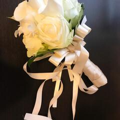 結婚式/ブーケ/ウエディングブーケ/ウエディング きのうは大切な友だちの結婚式でした。 と…