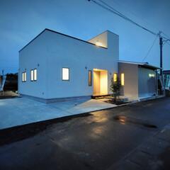 屋上/平屋/新築/漆喰/白い家/北欧 屋上のある家