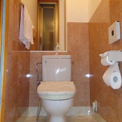 トイレ/フロアタイル/リーズナブル/高級感/清潔感/安価/... トイレコレクション① 腰壁・床をフロアタ…
