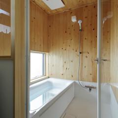 ナチュラル 木の落ち着いた印象の浴室