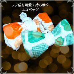 簡単/アレンジ/可愛い/エコバッグ/持ち歩く/レジ袋/... HC*さんのカバン型を少しアレンジさせて…