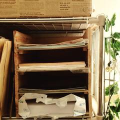生活雑貨 木製の書類トレイを手作りしました