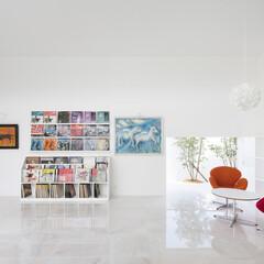 美術館/絵画/レコード鑑賞/白いインテリア 「美術館のような住宅を建てたい。」という…