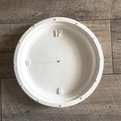 アイアンペイント アイアンブラック(その他塗料、塗装剤)を使ったクチコミ「セリアの紙皿(ペーパープレート) と、ダ…」(5枚目)