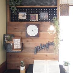 ピアノ/手作りライト/ディアウォール/子供部屋/DIY/収納/... 長男君のピアノの所にライトと 楽譜を収納…