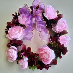 リース/玄関/ドア アーティフィシャルフラワー(高級造花)の…
