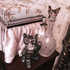 お茶箱リメイク/招き猫/猫の置物/ケンジントンキャット/ウインスタンレーキャット/イギリスアンティーク/... (1枚目)