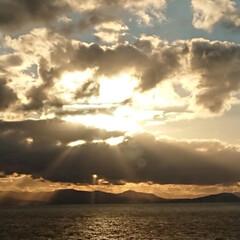 夕陽 綺麗な夕陽  もう北海道は雪で真っ白だけ…