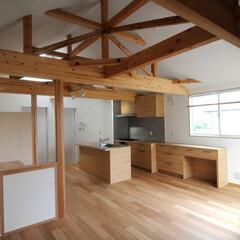 リビング/漆喰/住居兼オフィース/落ちつく空間/ますいいリビングカンパニー/ますいい kawaguchi hut 住居兼オフィ…