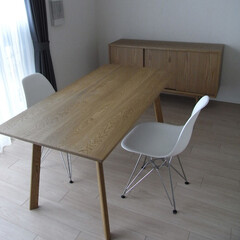 家具/インテリア/キャビネット/テーブル/リビング/ナラ/... ナラ材のキャビネットとテーブル(オーダー…