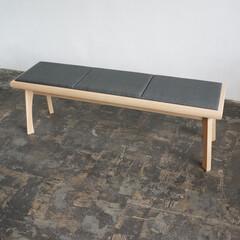 インテリア/家具/ベンチ/無垢材/和風 和風に寄り過ぎない、和を意識したベンチ。