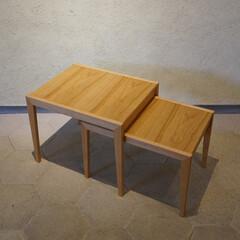 インテリア/家具/リビング/ローテーブル ネストテーブル  鳥が巣に戻るように、子…(1枚目)
